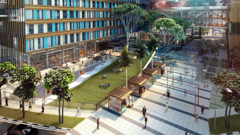 Health City Novena, Singapore, links existing healthcare facilities and the Lee Kong Chian School of Medicine