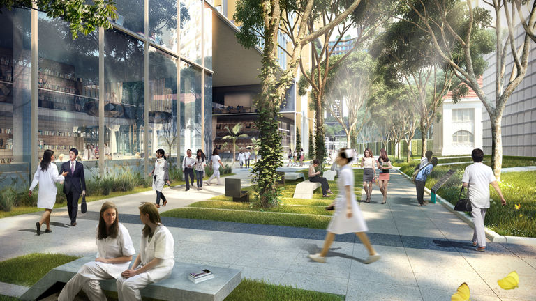 Health City Novena is an integrated healthcare mega-hub to be built around Tan Tock Seng Hospital in Singapore
