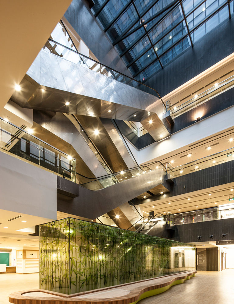 Interior shot of the National Heart Centre, Singapore, the first sustainable heart centre in Southeast Asia