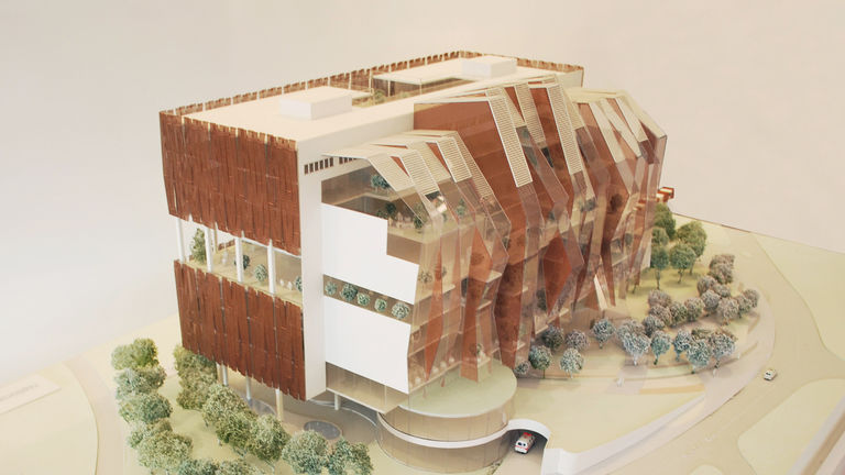 Physical concept model of the National Heart Centre, Singapore