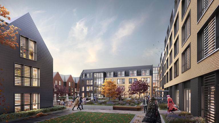 Visualisation of new student village at Oxford Brookes University