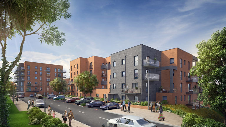 Image of new apartments at Erith Park, London Borough of Bexley.