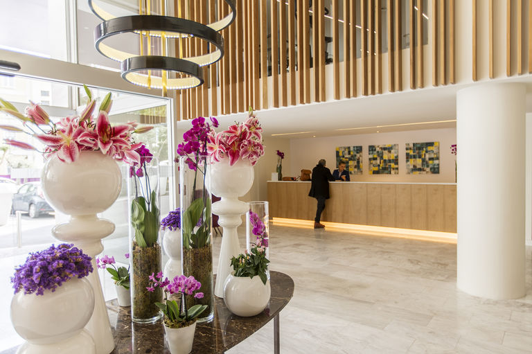 The main reception of the Avani Lisboa, redesigned by Broadway Malyan