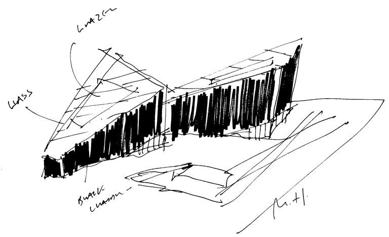 Sketch of Mann Island, Liverpool, mixed use regeneration scheme designed by architect Broadway Malyan