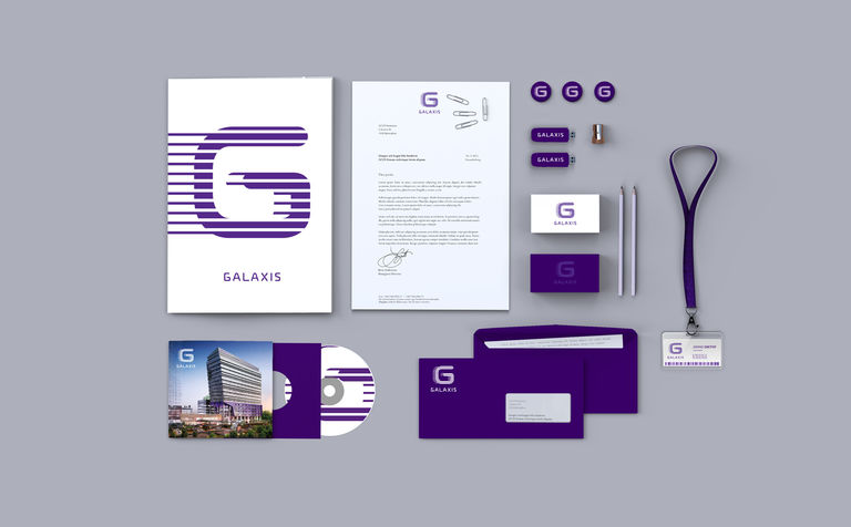 The Galaxis branding had to reflect the tech industries that will be using the building