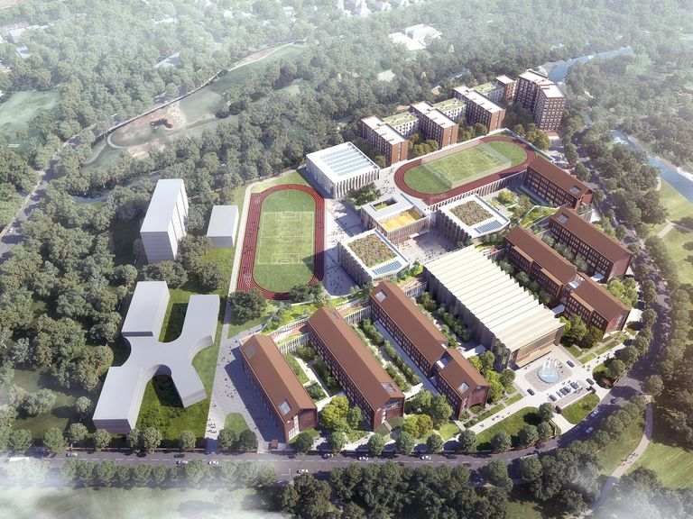 Visualisation of Chengdu Westminster campus, designed by Broadway Malyan