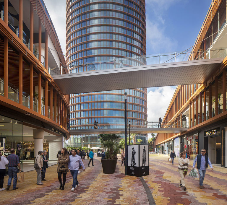 The new retail boulevard at Torre Seville, a new retail scheme designed by Broadway Malyan